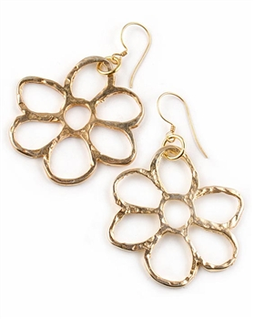 Gold Flower Drop Earrings by Chou - Exclusive