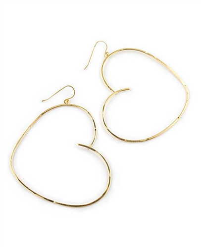 Large Gold Hoop Earrings by Eloise Fiorentino