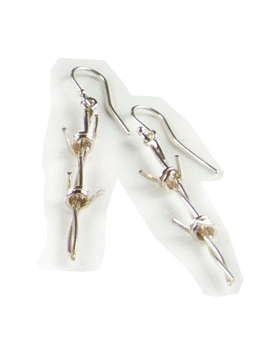 Sterling Silver Barb Wire Earrings