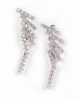 Sterling Silver Drop Earrings with Cubic Zirconia