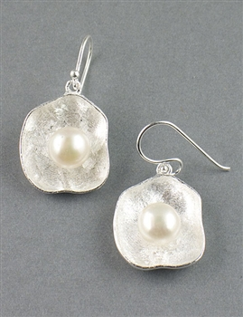 Sterling Silver Drop Earrings and Freshwater Pearl