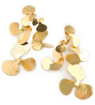 Gold Clip Earrings by Herve Van Der Staeten - EXCLUSIVE