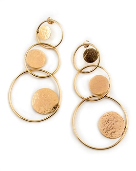 Herve van der Straeten Gold Drop Earrings