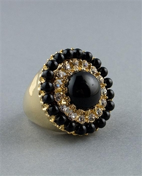 Black Pearls Statement Ring by Kenneth Jay Lane