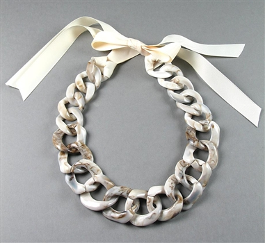 Large Resin Chain Necklace by Amor Fati