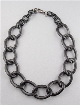 Black Large Chain Necklace by Amor Fati