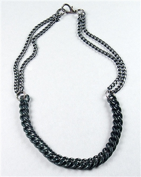 Black Chain Necklace by Amor Fati