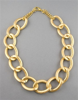 Gold Large Chain Necklace by Amor Fati