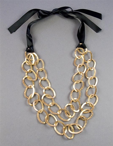 Long Gold Chain Necklace by Amor Fati