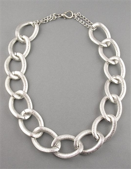 Silver Large Chain Necklace by Amor Fati