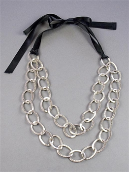 Long Silver Chain Necklace by Amor Fati
