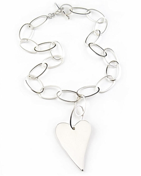Argento Vivo Sterling Silver Heart Necklace