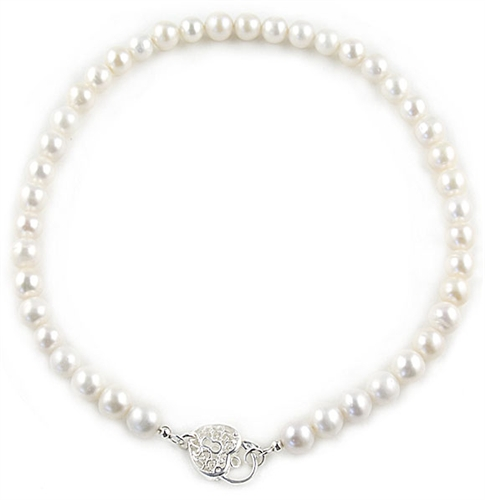 White 9-9.5mm Freshwater Pearls Necklace by Bora Bora