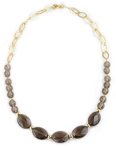Smokey Quartz Semi-Precious Necklace by Angelo De Soto