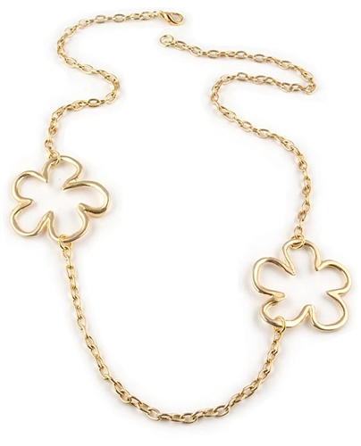 Gold Flower Necklace by Chou - Exclusive