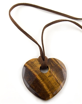 Tiger Eye Heart Pendant Necklace by Chou