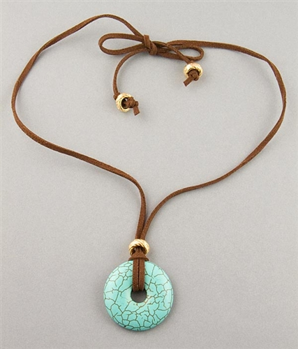 Turquoise Pendant Necklace by Chou