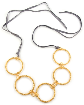 24K Gold Vermeil Links Necklace by Eloise Fiorentino