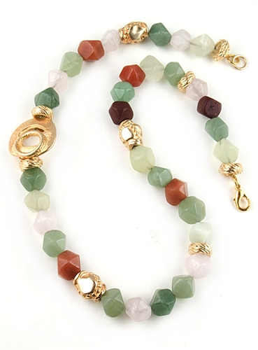 Semi-Precious Beads Necklace by Angelo De Soto