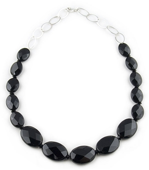 Black Semi-Precious Necklace by Paula Rosellini - EXCLUSIVE
