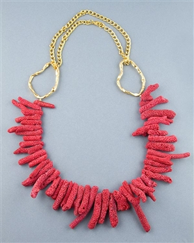 Red Bamboo Coral Necklace by Paula Rosellini