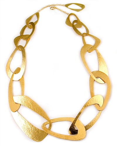 Herve Van Der Straeten Gold Link Necklace