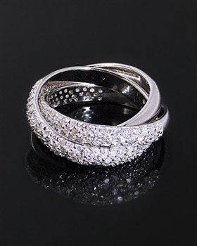 Sterling Silver Eternity Ring & Cubic Zirconia by JC Bertranet