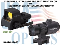 SIGHTMARK ULTRA SHOT PRO SPEC SIGHT NV QD and SIGHTMARK 3x TACTICAL MAGNIFIER PRO