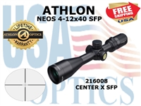 ATHLON NEOS 4-12x40 CENTER X SFP (VIDEO)