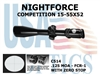 NIGHTFORCE COMPETITION 15-55X52 FCR-1 WITH ZERO STOP