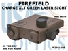 FIREFIELD CHARGE XLT GREEN LASER SIGHT - DARK EARTH