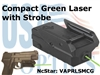 NcSTAR COMPACT PISTOL GREEN LASER with STROBE