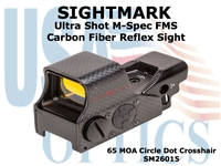 SIGHTMARK ULTRA SHOT M-SPEC FMS CARBON FIBER REFLEX SIGHT