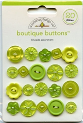 Limeade Assortment Boutique Buttons 02475 from Doodlebug Designs Inc.