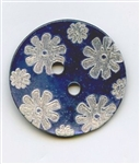 Etched Flower Turquoise 14418-32-T from Renaissance Buttons