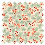 Chez Moi Mimi Leaves 16094-14 Cream Coral from Moda