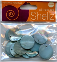 "3/4"" Turquoise Round Buttons All-Natural Shellz #1843 from Blumenthal Lansing Co."