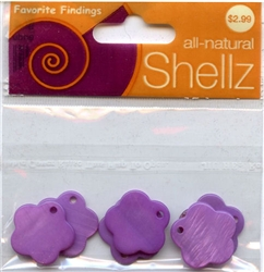 "3/4"" Purple Flower Buttons All-Natural Shellz #1847 from Blumenthal Lansing Co."