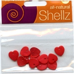 "7/16"" Red Heart Buttons All-Natural Shellz #1851 from Blumenthal Lansing Co."