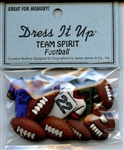 Football Team Spirit Buttons Dress It Up #1914 from Jesse James