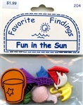 Fun in the Sun Buttons Favorite Findings #204 from Blumenthal Lansing Co.