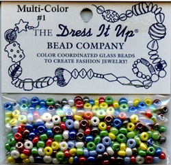 Multi-Color Glass Beads Dress It Up #2612 from Jesse James