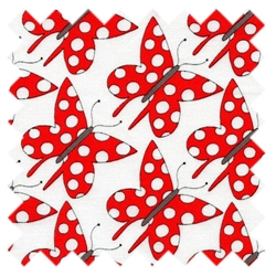 St. Ives Butterfly Dots Red 30444-30 from Lecien