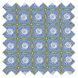 St. Ives Flower Blocks Blue 30445-70 from Lecien