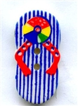 Summer Fun Flip Flop Button 330624-Blue from Dill Buttons