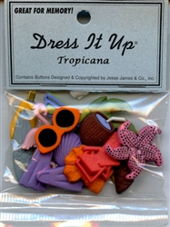 Tropicana Flatbacks & Buttons Dress It Up #368 from Jesse James