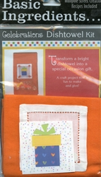 Basic Ingredients Celebration Dishtowel Kit Happy #BI-Hakt from Wimpole Creations