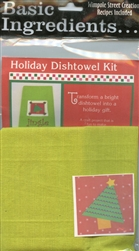 Basic Ingredients Holiday Dishtowel Kit Jingle #BI-JIKT from Wimpole Street Creations