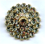 Large Gold Crystal CD1810-Gold The Button Company