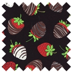 Got the Munchies? Chocolate Strawberries Food-C6213-Black from Timeless Treasures